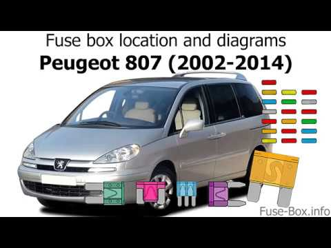 fuse box location and diagrams: peugeot 807 (2002-2014)