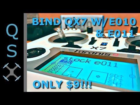 Bind Taranis QX7 w/ Eachine E010 & E011 - How To Bind Cheap Transmitter Module for QX7 w/ E010 E011