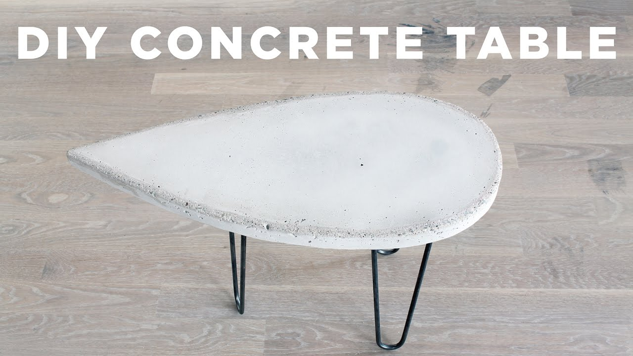 DIY Concrete Side Table   YouTube