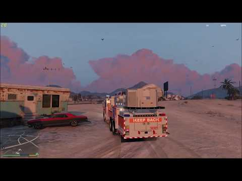 GTA 5 FIRE DEPARTMENT BLAINE COUNTY VOLUNTEERS RESPONDING TO A STRUCTURE FIRE