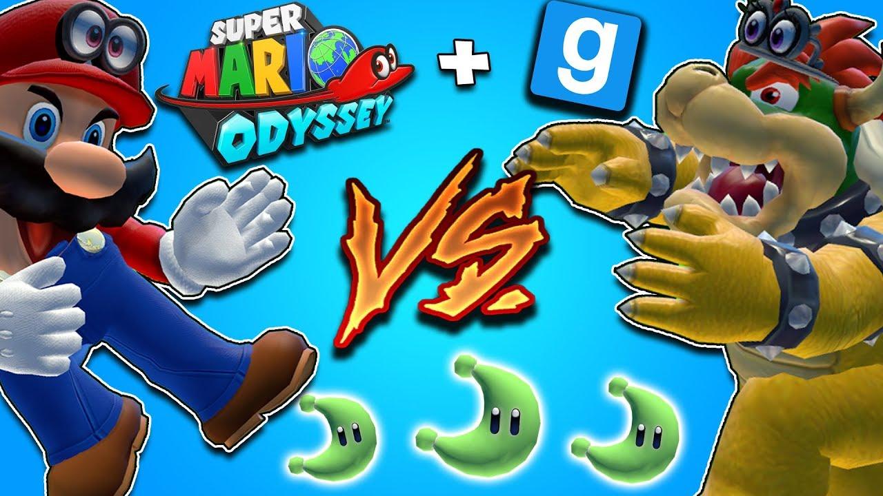 MARIO VS BOWSER || Mario Odyssey Challenege REMATCH || Gmod