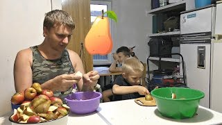 Как сделать яблочный сок🍏🍎.Шнековые соковыжималки. Ужин.