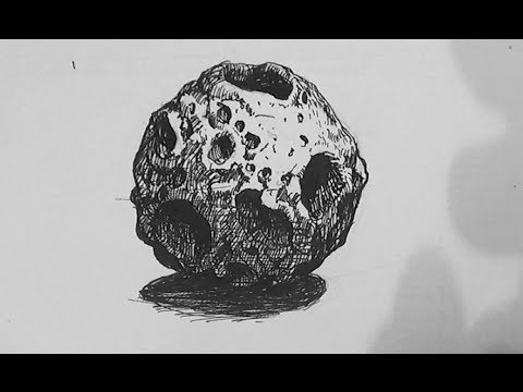 drawn picture of an asteroid - photo #17
