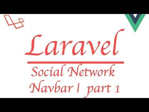 #Laravel how to make a social network with #Vue   Navbar Part 1 thumbnail