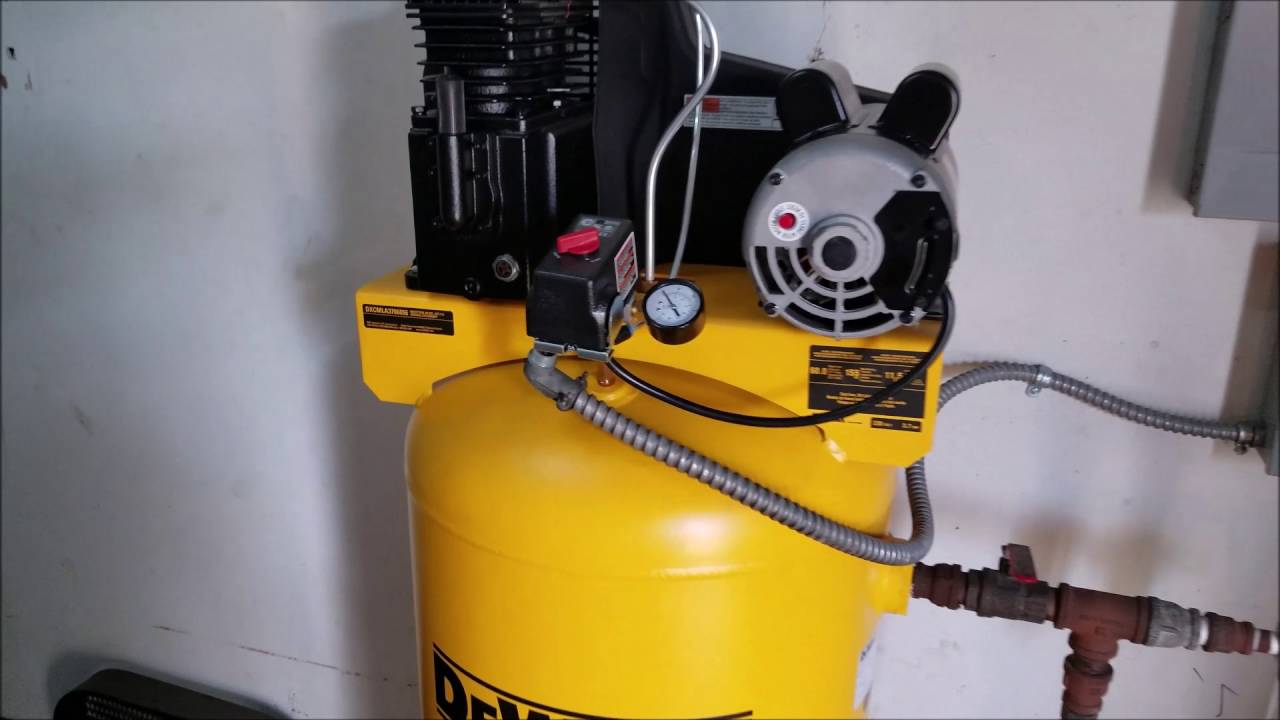 dewalt 60 gal stationary electric air compressor youtube rh youtube com air lift compressor wiring diagram [ 1280 x 720 Pixel ]