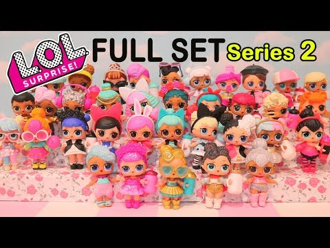 LOL Surprise Dolls Series 2 FULL SET With ULTRA RARE 24K GOLD Doll - Toys Like Surprise Eggs