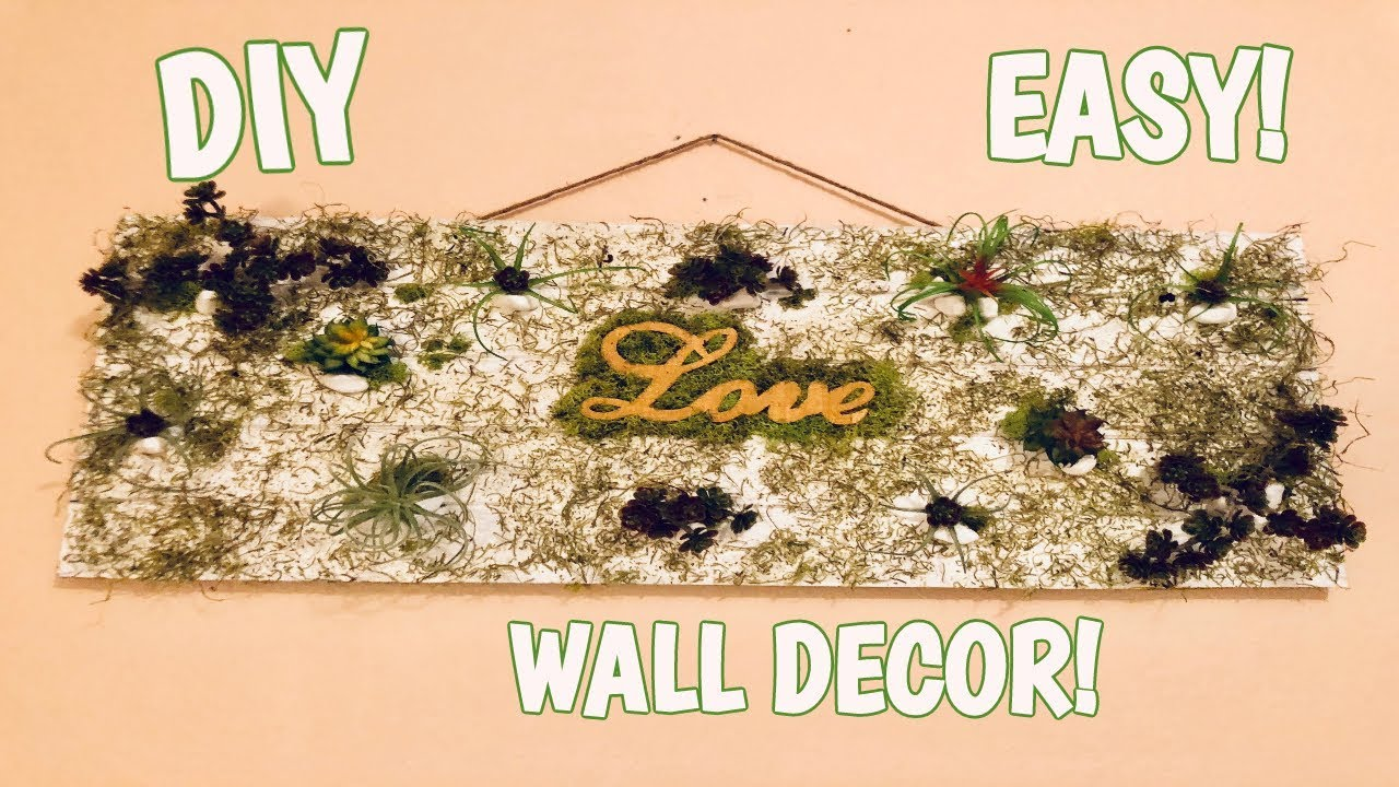 DIY FAKE PLANT WALL DECOR EASY! - YouTube