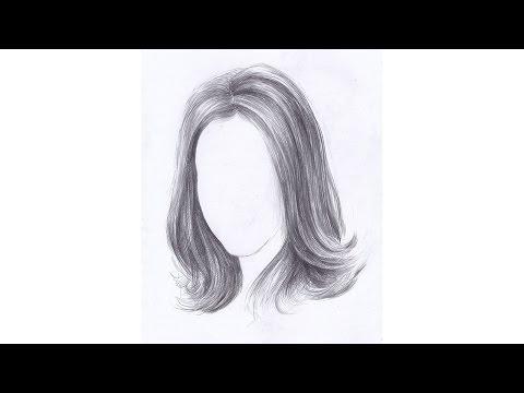 Как рисовать ВОЛОСЫ ДЕВУШКИ карандашом. Урок 66. How To Draw A Girl's Hair Pencil