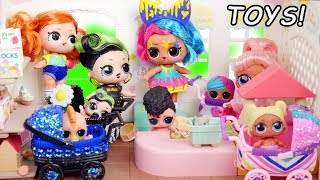 LOL Store Family Surprise Birthday Party in Barbie School with Baby Goldie & Punk Boi