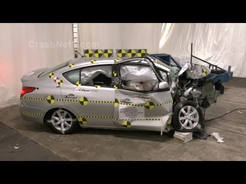 2013 Nissan Versa | Crash Test Documentation, Frontal Oblique Offset Test by NHTSA | CrashNet1