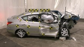 2013 Nissan Versa | Crash Test Documentation, Frontal Oblique Offset Test by NHTSA | CrashNet1