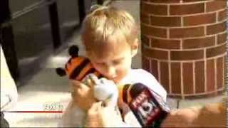Lost toy tiger goes on airport tour