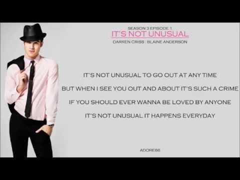 Glee _ It's Not Unusual Lyrics