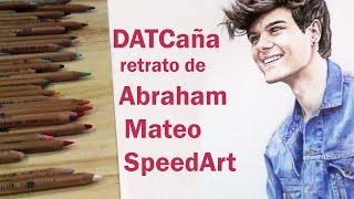 DATCaña retrato de Abraham Mateo SpeedArt