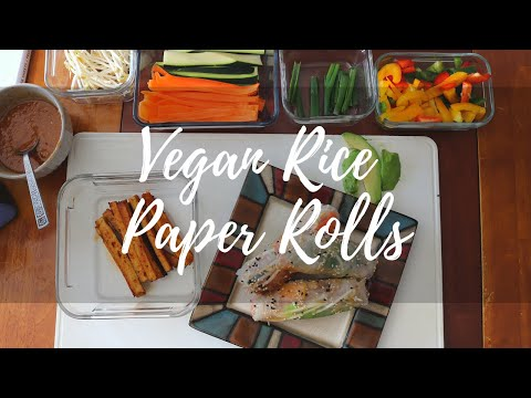 Vegan Rice Paper Rolls