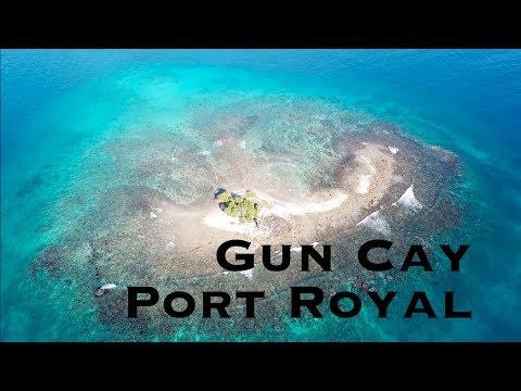 Drone shots of Gun Cay, near Port Royal, Jamaica