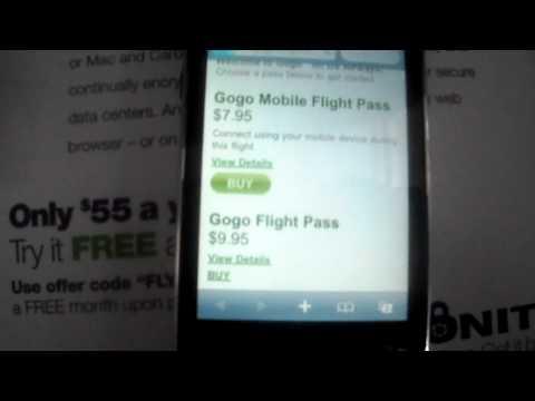 Gogo inflight at US airways