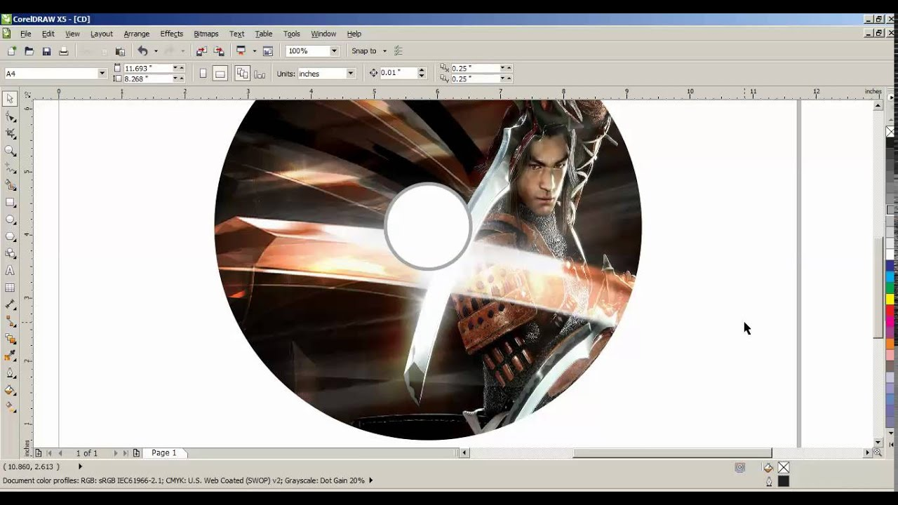 DVD ,CD Cover Design In Corel Draw - YouTube