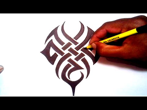 drawing a tribal tattoo designs armband cross tribal tattoos youtube. Black Bedroom Furniture Sets. Home Design Ideas