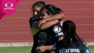 Gol de Esmeralda Verdugo | Lobos BUAP 1 - 1 América | Liga MX Femenil - J9 | Televisa Deportes