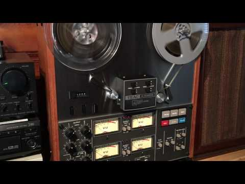 Teac A-3340S 4 Track Reel to Reel Demonstration Video. Recording and Playing Back Pink Floyd.