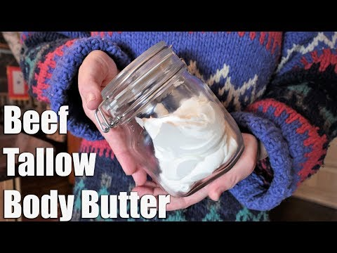 HOW TO:  Whipped Body Butter From BEEF Tallow | Zero Waste!