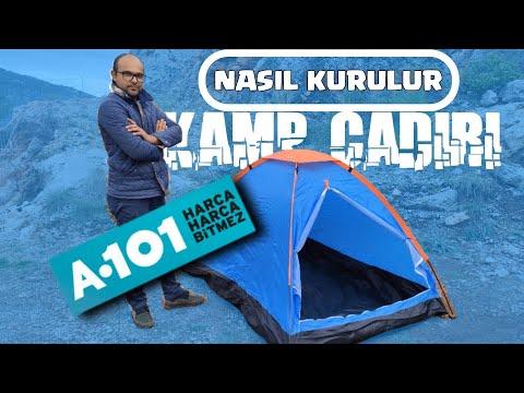 A101 2020 Kamp Çadırı NASIL KURULUR ? AŞAMA AŞAMA KAMP ÇADIRI KURULUMUNU YAPTIM.