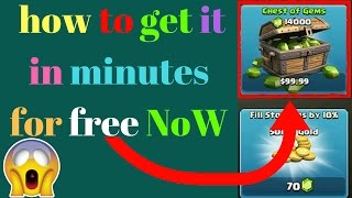 How To Get Gems For Free in Clash Of Clans Free Max Bases !!!