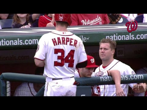 PHI@WSH: Harper, Papelbon Separated After Dispute
