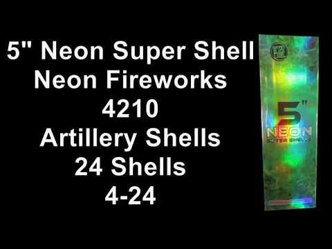 """Neon Super Shells 5"""""""