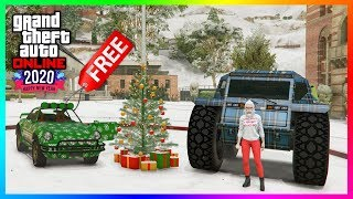 GTA 5 Online Festive Surprise NEW YEARS 2020 DLC Update - FREE Items, Lucky Wheel Cars & MORE!