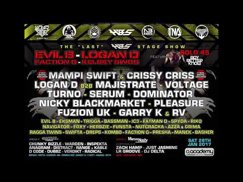 Turno FT Eksman And Herbzie - Evil B Birthday Bash @ 02 Academy - January 2017