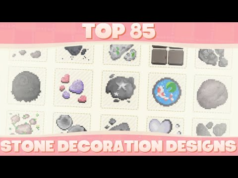 Top 85 Custom Stone Decoration Designs For Animal Crossing New Horizons!
