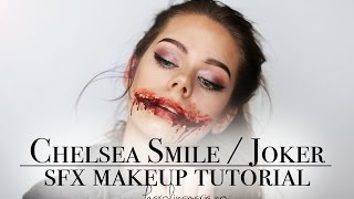 CHELSEA SMILE / JOKER SMILE HALLOWEEN SFX MAKEUP TUTORIAL
