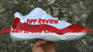 GOAT App Review Jordan 11 Low Cherry Unboxing HD
