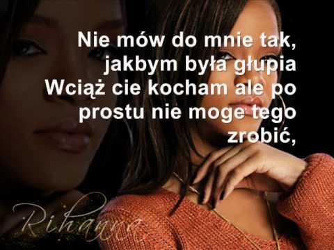 Rihanna - Stupid in love tłumaczenie pl