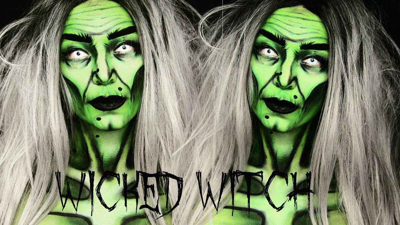 Wicked witch halloween makeup tutorial youtube wicked witch halloween makeup tutorial baditri Images
