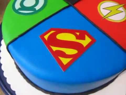 superhelden fondant torte geburtstag green lantern batman superman und the flash youtube. Black Bedroom Furniture Sets. Home Design Ideas