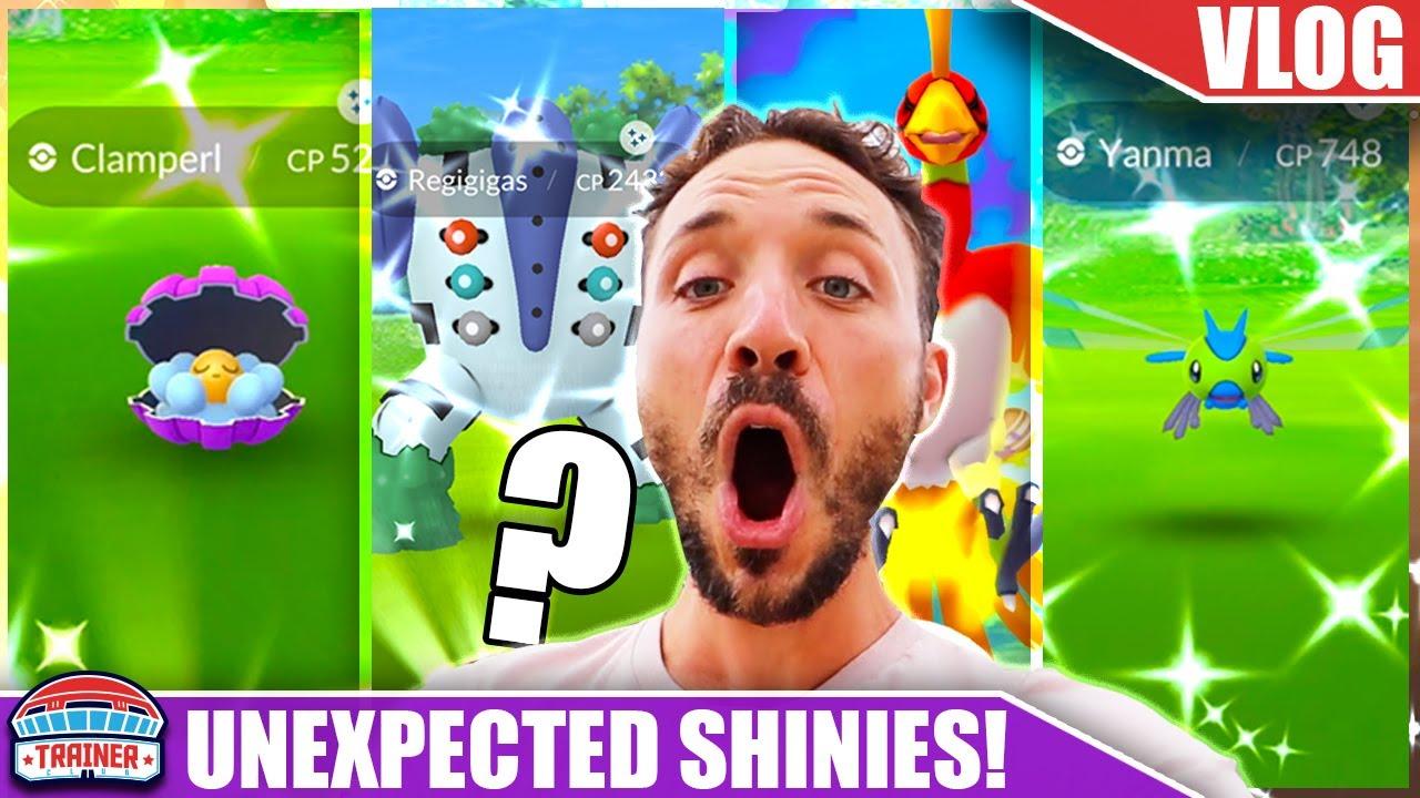 THE MOST UNEXPECTED SHINY ENCOUNTERS... WHEN HUNTING SHINY REGIGIGAS | Pokémon GO Vlog