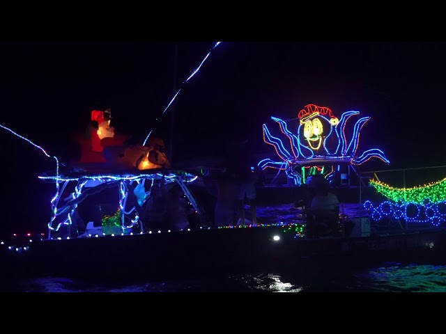 Christmas Cheer at Holiday Boat Parade San Pedro, Belize