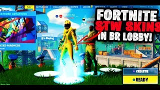 How U Can Get STW Characters Into The BATTLE ROYALE Lobby In Fortnite (Working Glitches)