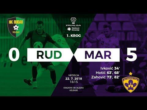 1.krog: Rudar - Maribor 0:5; Prva liga Telekom Slovenije 2018/2019
