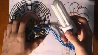 Демонстрация действующей модели генератора энергии из эфира  Весь жир в конце ролика