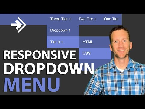 Dropdown Menu Tutorial | Responsive HTML & CSS (no Javascript)