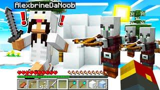 noob Girl RAIDS an igloo in Minecraft