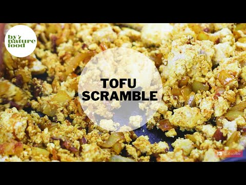 Tofu scramble l Recipe for vegan scrambled egg