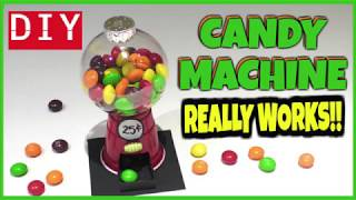 EASY DIY MINI CANDY MACHINE-WORKS - CANDY CRAFTS FOR KIDS -PLASTIC CUP & XMAS BALL ORNAMENT CRAFTS