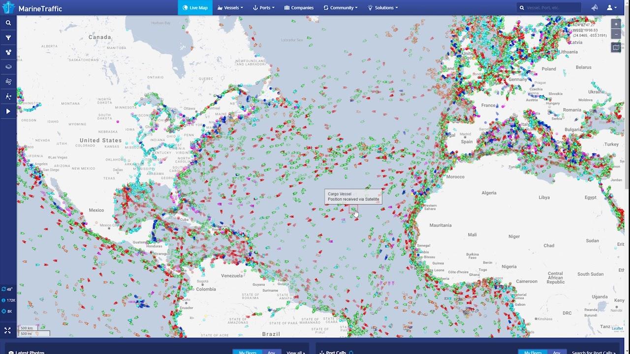 Marinetraffic Pagkosmia Parakoloy8hsh Ploiwn Se Pragmatiko Xrono