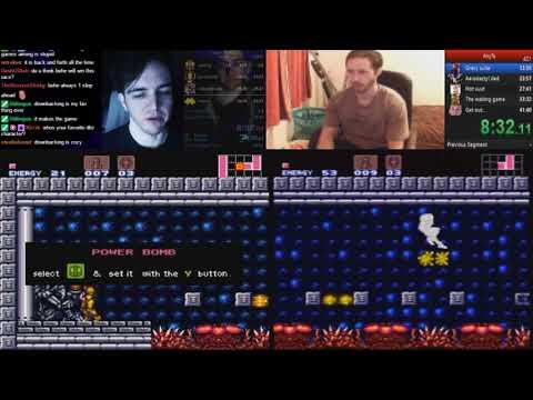 Super Metroid any% World Record comparison video 41:33 vs 41:33