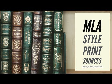 MLA Style Works Cited: Print Sources